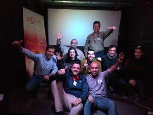 Foto de los socios e invitados que asumimos el liderazgo